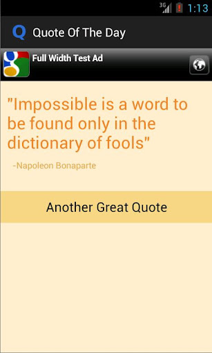 Quote of The Day App