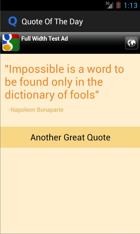 Quote of The Day App - screenshot