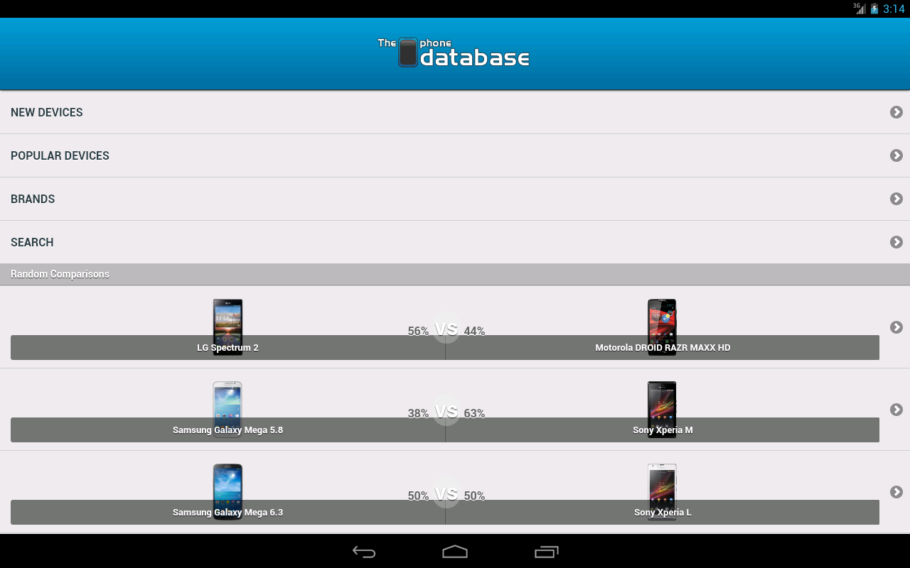The Phone Database- screenshot