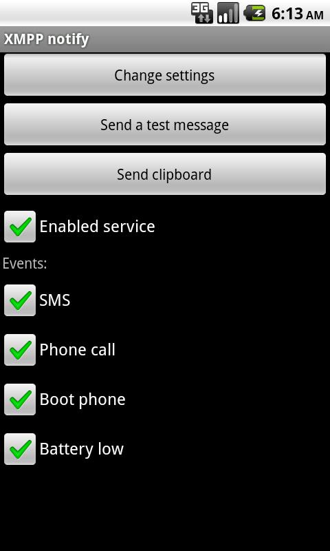 XMPP notify full - screenshot