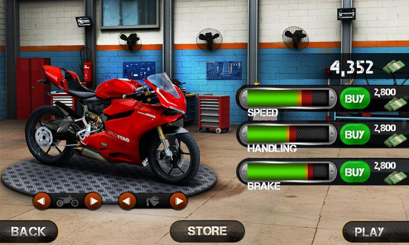 Screenshots of Race the Traffic Moto for iPhone