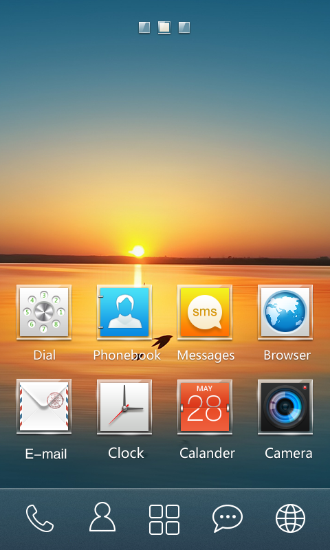 Square GO Launcher Theme- screenshot