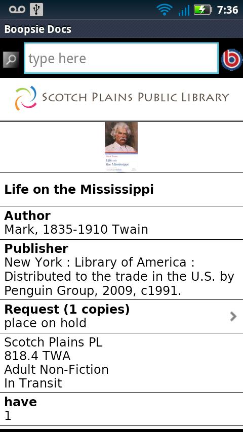 Scotch Plains Public Library- screenshot
