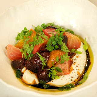 Roasted Beets with Yogurt