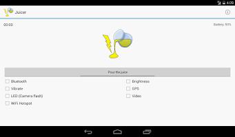 Screenshot of Juicer (battery drainer)
