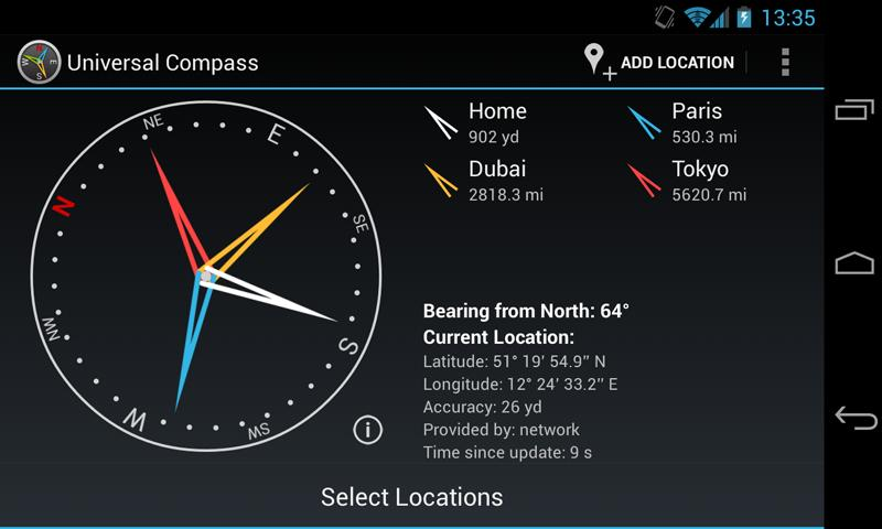 Universal Compass Demo- screenshot