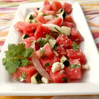 Refreshing Watermelon Salad.