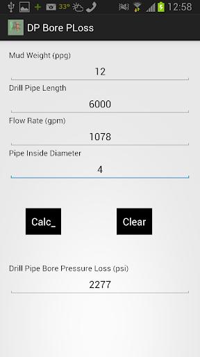 【免費生產應用App】DP Bore Pressure Loss-APP點子