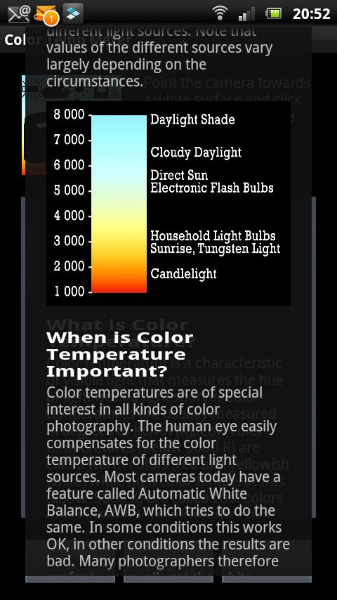 White Balance Color Temp Meter - screenshot