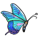 Butterflies coloring book icon