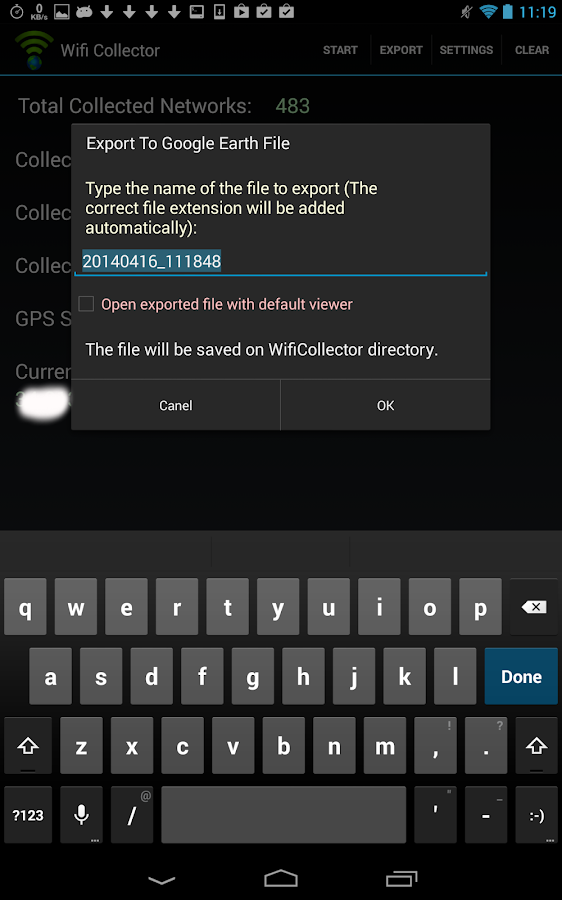 Wifi Collector- screenshot