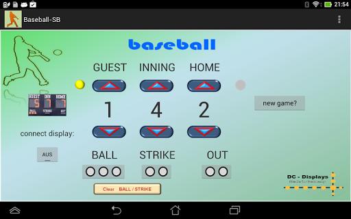 Baseball - Scoreboard