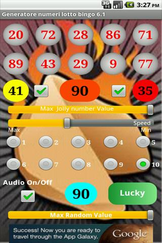 Generatore numeri lotto bingo- screenshot