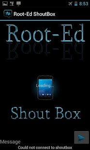 Root-Ed Shoutbox - screenshot thumbnail