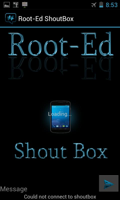 Root-Ed Shoutbox - screenshot