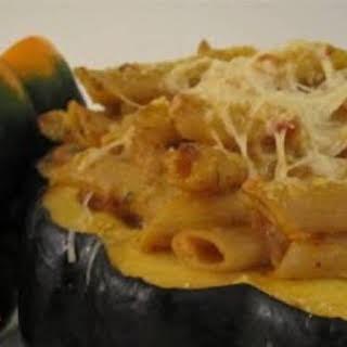 Baked Pumpkin Ziti Alfredo.