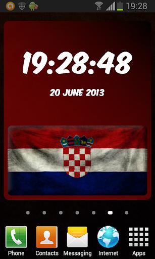 Croatia Digital Clock