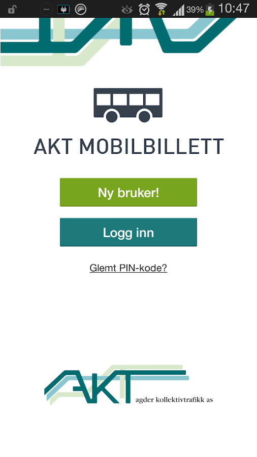 Akt Mobilbillett- screenshot