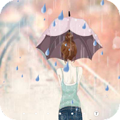 Anime rain Live Wallpaper