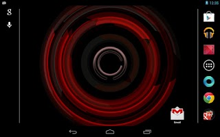 Screenshot of Tech Ring Live Wallpaper Free