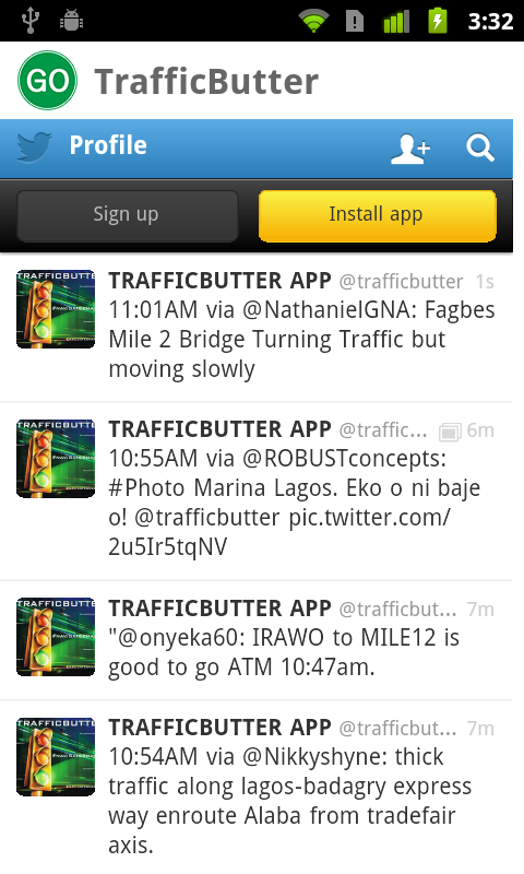 TrafficButter- screenshot