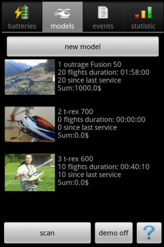 RC-Log  Lipo & Flightlog - screenshot