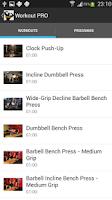 Screenshot of Workout PRO