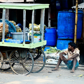 STREET VENDOR by Anand Lepcha - People Street & Candids ( street, nikond7000, india, rest, nikon, people, color, colors, landscape, portrait, object, filter forge )