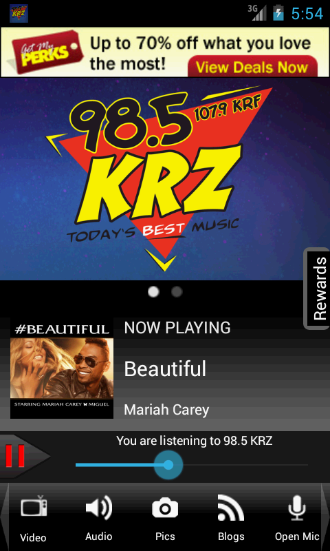 98.5 KRZ – Today's Best Music- screenshot