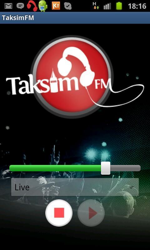 TaksimFM: screenshot