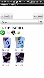 Phase 10 Scorekeeper Free - screenshot thumbnail
