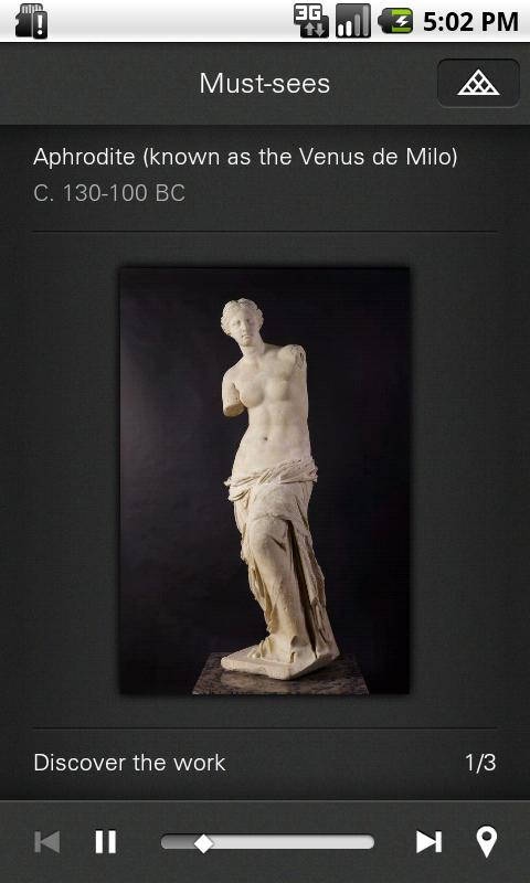 Louvre Audio Guide- screenshot