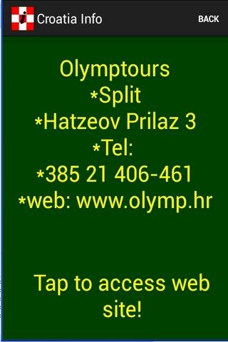 Croatia Info - screenshot