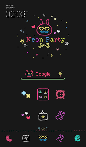 neon party dodol theme