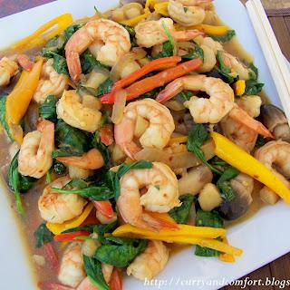 Asian Shrimp and Spinach Stir Fry