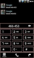 Screenshot of RBW GO Contacts EX Theme Free