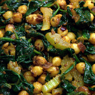 Spiced Chickpeas with Spinach Recipe