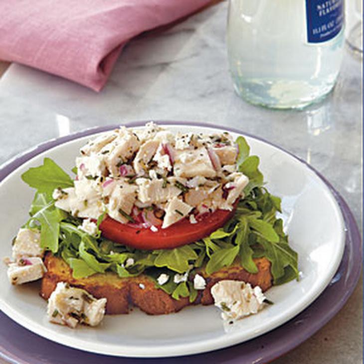 Chicken-Arugula Salad Open-Faced Sandwiches