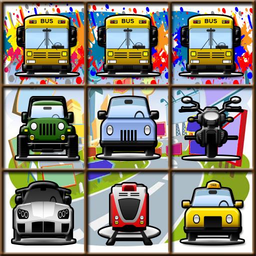 休閒必備App|汽車卡通匹配3遊戲 LOGO-綠色工廠好玩App