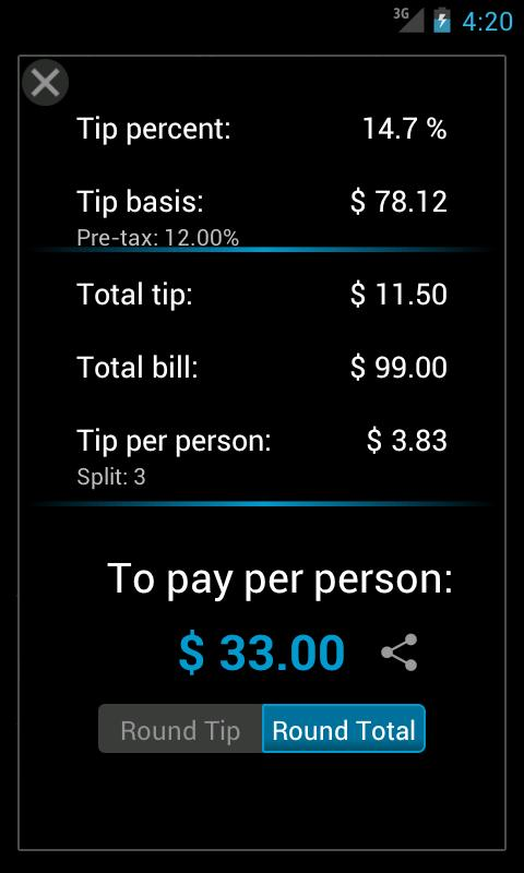 Tip Split - Tip Calculator- screenshot
