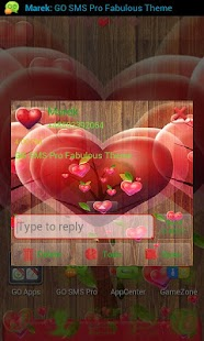 GO SMS Pro Fabulous Hearts - screenshot thumbnail