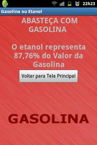 Gasolina ou Etanol - screenshot