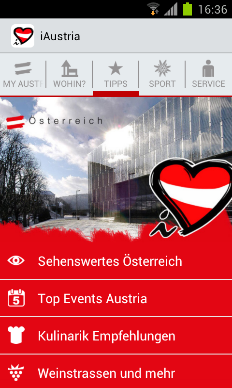 iAustria - The Travel Guide. - screenshot
