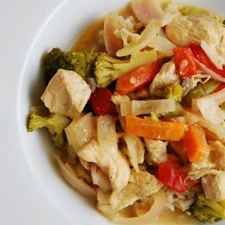 Crock Pot Thai Green Curry Chicken.