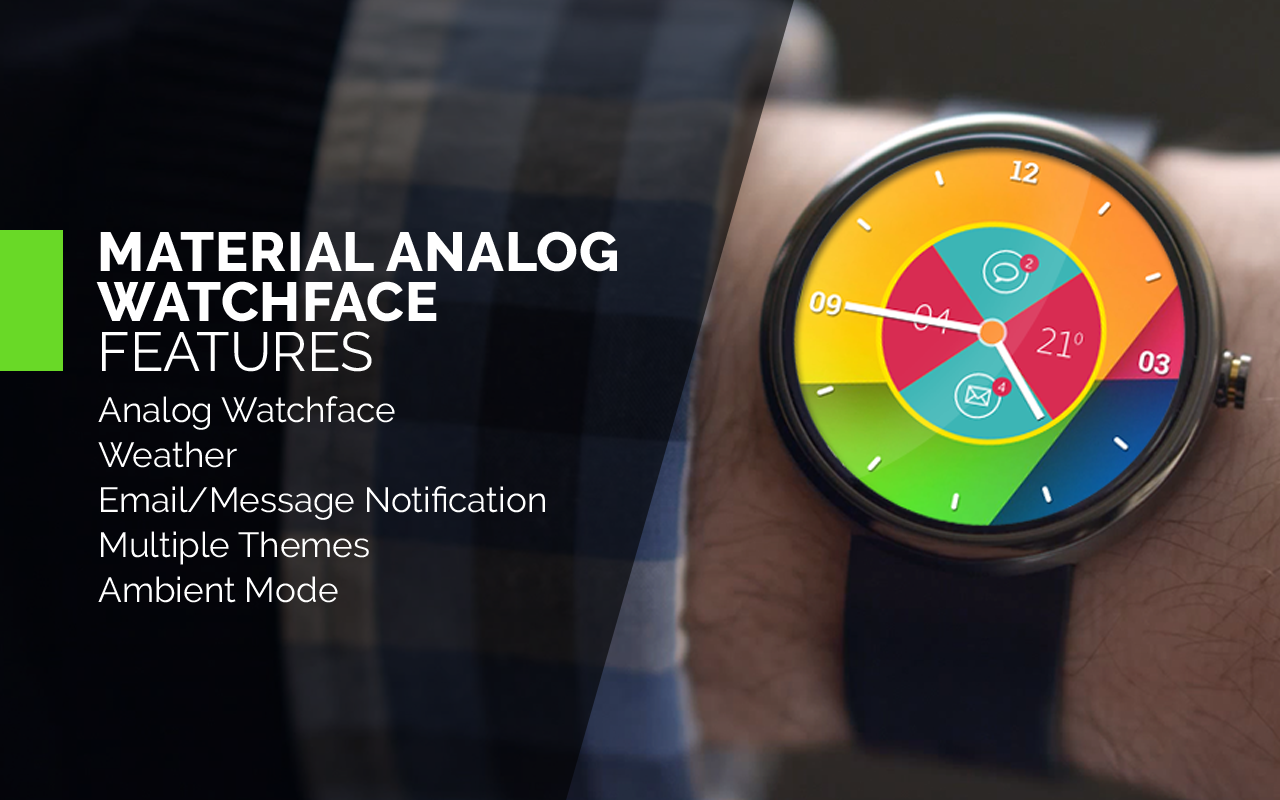 Material Analog Watch Face- screenshot