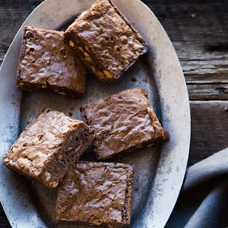 Bittersweet Chocolate, Orange & Almond Brownies.