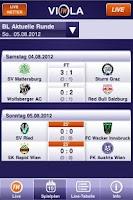 Screenshot of ViolaFM - das Fußballradio