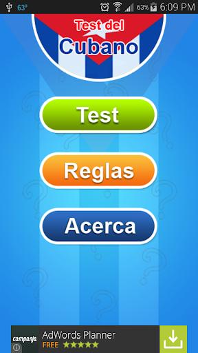 Test del Cubano - Cuba
