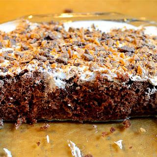 Easy Chocolate Poke Cake.