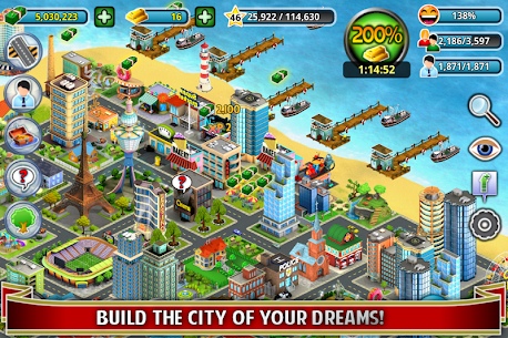 City Island ™: Builder Tycoon 3.3.3 MOD (Unlimited Cash/Gold) 1